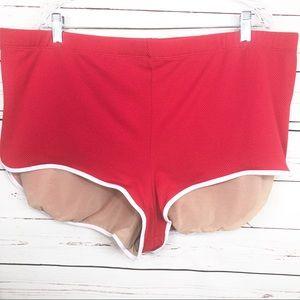 CACIQUE Orange Ribbed Swim Shorts NWOT